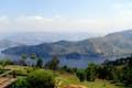 Uganda is terraced hilltops