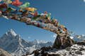 Nepal is a curtain of fluttering prayer flags