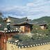 UNSPECIFIED - CIRCA 2004:  South Korea - North Kyongsang - Andong surroundings - Historic village of Hahoe (UNESCO World Heritage List, 2010), typical house.  (Photo By DEA / M. BORCHI/De Agostini/Getty Images)