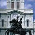Statue of hero Andrew Jackson on Jackson Square in New Orleans.