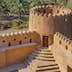 BAHLA, OMAN - NOVEMBER 28, 2017: detail of Jabrin Castle, in Bahla, Oman