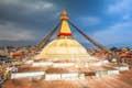Bodhnath (Boudha) is prayer flags and sacred stupas