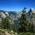 Half Dome and the Yosemite Valley viewed from Glacier Point in Yosemite National Park