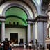 People admiring Michelangelo's statue of David in the Galleria dell'Accademia.