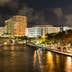 FORT LAUDERDALE, USA - DEC 6, 2015: Night view of New River with Riverwalk promenade highrise condominium buildings and yachts in Fort Lauderdale, Florida; Shutterstock ID 355336061; Your name (First / Last): Lauren Keith; GL account no.: 65050; Netsuite department name: Content Asset; Full Product or Project name including edition: Guides Project Eastern USA