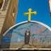 mosaic on gate of St. Antony Coptic Orthodox monastery, Egypt