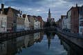 Bruges is soaring towers in the evening light