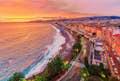 Nice is sunset beach walks