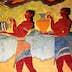 Fresco on a wall at the Palace of Knossos - Knossos, Iraklio Province, Crete