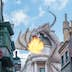 ORLANDO, USA - SEPTEMBER 02, 2015: Gringotts Bank Dragon breathing fire The Wizarding World Of Harry Potter at Universal Studios Orlando. Universal Studios Orlando is a theme park in Orlando, Florida.; Shutterstock ID 327143894; Your name (First / Last): Trisha Ping; GL account no.: 65050; Netsuite department name: Online Editorial; Full Product or Project name including edition: Trisha Ping/65050/Online Editorial/FloridaPOIs