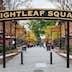 USA, North Carolina, Durham, sign for Brightleaf Square, entertainment complex, set in former tobacco warehouses.