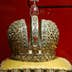 The crown of Tsar Mikhail Fyodorovich in the Armoury in the Kremlin, Moscow. 21/06/2003. (Photo by Jeff Overs/BBC News & Current Affairs via Getty Images)