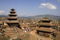 Bhaktapur is temples that mirror the mountains