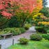 Autumn Colors with Park Bench and Walking Path in Arboretum Garden; Shutterstock ID 227970997; Your name (First / Last): Alexander Howard; GL account no.: 65050; Netsuite department name: Online Editorial; Full Product or Project name including edition: Western USA neighborhood POI highlights