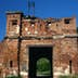 Battle scarred gate in Brest Fortress.
