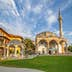 PRISTINA, KOSOVO - JULY 29, 2014: Fatih Mosque is the main city mosque and it is located in the center of the old town. Islam is the main religion in Kosovo.; Shutterstock ID 214757011