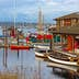 SEATTLE, USA - MARCH 22, 2016: Center for Wooden Boats on Lake Union on March 22, 2016 in Seattle, WA, USA. Various boats are available for rent to paddle on the Lake Union.; Shutterstock ID 430690528; Your name (First / Last): Alexander Howard; GL account no.: 65050; Netsuite department name: Online Editorial; Full Product or Project name including edition: Western USA neighborhood POI highlights