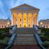 Virginia State Capitol, Richmond, Virginia, America..Photograph taken after sunset..The Capitol Building houses the oldest elected legislative body in USA, first established as the House of Burgesses in 1619