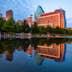 Reflection, Klyde Warren Park, Dallas, Texas, America