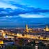 500px Photo ID: 139870999 - Florence or Firenze sunset aerial cityscape. Panorama view from Michelangelo park square. From left Palazzo Vecchio and Duomo Cathedral. Italy