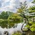 KANAZAWA, JAPAN - JUL 31 2016: Kenroku-en located in Kanazawa, Ishikawa, Japan, is an old private garden. Along with Kairaku-en and Koraku-en, Kenroku-en is one of the Three Great Gardens of Japan.