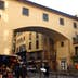 Outside of the Vasari Corridor on the Oltrarno side past the Ponte Vecchio