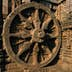 Carved wheel of the Sun Temple at Konark.