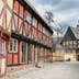 AARHUS, DENMARK - APRIL 12, 2015: Medieval houses the streets of  the old town Den Gamle By in Aarhus Denmark; Shutterstock ID 271673486; Your name (First / Last): Emma Sparks; GL account no.: 65050; Netsuite department name: Online Editorial; Full Product or Project name including edition: Best in Europe POI updates