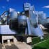 The Frederick Weisman Art Museum, the stainless steel structure by architect Frank Gehry, on the University of Minnesota campus - Minneapolis-St Paul, Minnesota