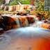 Golden waterfall,Jiufen,Taiwan