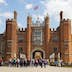 The main entrance to Hampton Court Palace, Richmond, London, England.