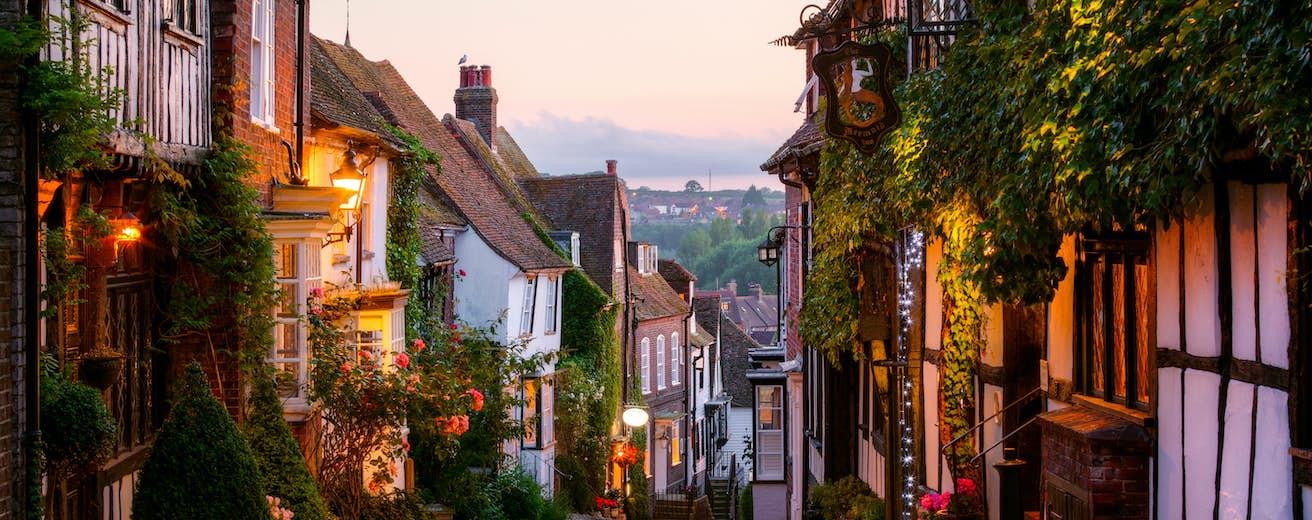 Mermaid Street, Rye, Sussex, England