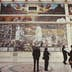 The North Wall of the Detroit Industry Murals, a series of frescoes by Mexican artist Diego Rivera at the Detroit Institute of Arts, Detroit, Michigan, October 1988. (Photo by Barbara Alper/Getty Images)