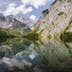 Watzmann reflecting in Obersee
