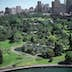 aerial view of royal botanic gardens, sydney