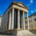 Pula Croatia, Istria Peninsula 17.09.2018..Temple of Augustus..Arch of the Sergii..Pula Communal Palace; Shutterstock ID 1232040358; Your name (First / Last): Anna Tyler; GL account no.: 65050; Netsuite department name: Online Editorial; Full Product or Project name including edition: destination-image-southern-europe