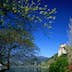 Perched on a cliff, Bled Castle (Blejski Grad) overlooks the picturesque Lake Bled.