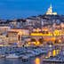 Marseille, France at night. The famous european harbour view on the Notre Dame de la Garde; Shutterstock ID 422043877; Your name (First / Last): redownload; GL account no.: redownload; Netsuite department name: redownload; Full Product or Project name including edition: redownload