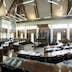 Interior of the Assambly of Fiji in the city of Suva. Viti Levu island. Oceania.