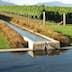 New Zealand, Marlborough, Villa Maria Vineyards outside the Marlborough winery with water feature