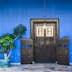 Door and blue wall, Penang, Malaysia
