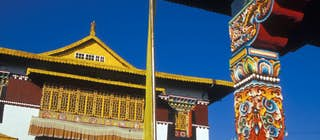 The ornate facade of Pemayangtse gompa © Joe Bindloss / Lonely Planet