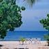 Dans le village de Tiputa sur l'atoll de Rangiroa aux Tuamotu, Polyn?sie Fran?aise.Scan d'un n?gatif.