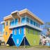 KAOHSIUNG TAIWAN - DECEMBER 13, 2016: Upside down house Pier 2 Art Center Pier 2 Art Center was originally an abandoned warehouse site converted to the art centre.; Shutterstock ID 590977709; Your name (First / Last): Megan Eaves; GL account no.: 65050; Netsuite department name: Online Editorial; Full Product or Project name including edition: Best in Travel - Kaohsiung destination page POI images