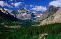 Glacier National Park is sawtooth horizons