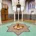 MEKNES, MOROCCO - FEBRUARY 29, 2016: Mausoleum of Moulay Ismail interior in Meknes in Morocco. Mausoleum of Moulay Ismail is a tomb and mosque located in the Morocco city of Meknes.; Shutterstock ID 421915627; Your name (First / Last): Lauren Keith; GL account no.: 65050; Netsuite department name: Online Editorial; Full Product or Project name including edition: Day in Meknes article