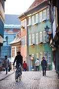 Erfurt is a ride through cobbled streets