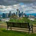 Bench and view of the downtown Seattle skyline, in Seattle, Washington.; Shutterstock ID 278270483; Your name (First / Last): Alexander Howard; GL account no.: 65050; Netsuite department name: Online Editorial; Full Product or Project name including edition: Western USA neighborhood POI highlights