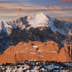 Pikes Peak and Garden of Gods in winter