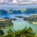 Lake of Sete Cidades from Vista do Rei viewpoint in Sao Miguel, Azores; Shutterstock ID 333806120; Your name (First / Last): James Kay; GL account no.: 65050; Netsuite department name: Online Editorial; Full Product or Project name including edition: Azores destination page highlights